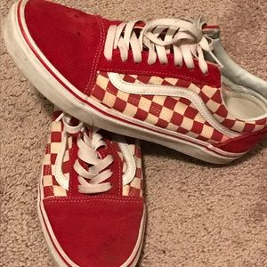 Vans Shoes - Vans, size 8.5 red Chequers
